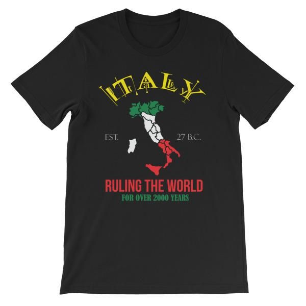 Italy Ruling the World for Over 2000 Years T-shirt-Black-S-Awkward T-Shirts