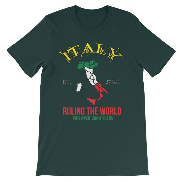 Italy Ruling the World for Over 2000 Years T-shirt-Forest-S-Awkward T-Shirts