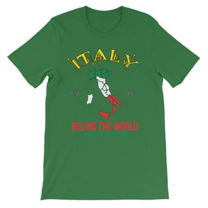 Italy Ruling the World for Over 2000 Years T-shirt-Leaf-S-Awkward T-Shirts