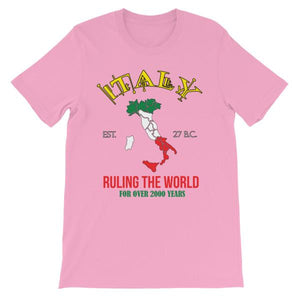 Italy Ruling the World for Over 2000 Years T-shirt-Pink-S-Awkward T-Shirts