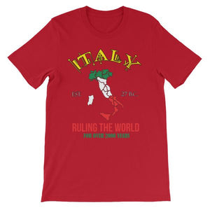 Italy Ruling the World for Over 2000 Years T-shirt-Red-S-Awkward T-Shirts