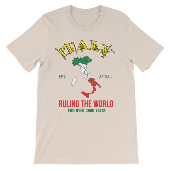 Italy Ruling the World for Over 2000 Years T-shirt-Soft Cream-S-Awkward T-Shirts