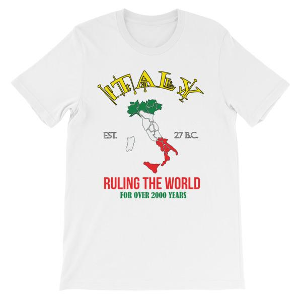 Italy Ruling the World for Over 2000 Years T-shirt-White-S-Awkward T-Shirts