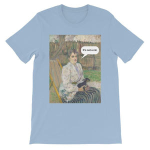 It's Not A Rat Chihuahua Art T-shirt-Light Blue-S-Awkward T-Shirts