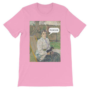 It's Not A Rat Chihuahua Art T-shirt-Pink-S-Awkward T-Shirts