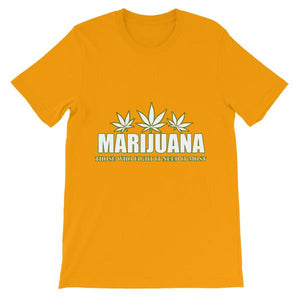 Marijuana Those Who Fight It Need It Most T-Shirt-Gold-S-Awkward T-Shirts