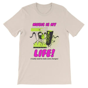 Music is My Life T-Shirt-Soft Cream-S-Awkward T-Shirts