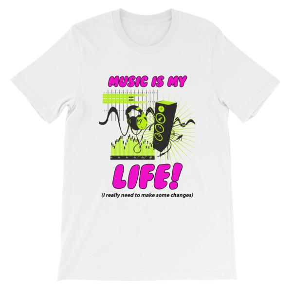 Music is My Life T-Shirt-White-S-Awkward T-Shirts