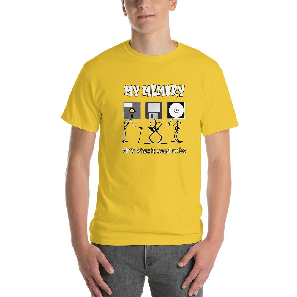 My Memory Ain't What it Used to Be Retro Computer Geek T-Shirt-Daisy-S-Awkward T-Shirts