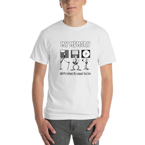 My Memory Ain't What it Used to Be Retro Computer Geek T-Shirt-White-S-Awkward T-Shirts