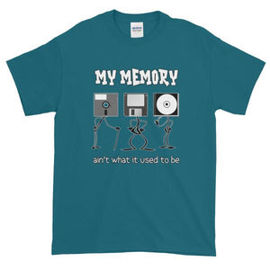 My Memory Ain't What it Used to Be Short-Sleeve T-Shirt-Galapagos Blue-S-Awkward T-Shirts