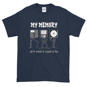 My Memory Ain't What it Used to Be Short-Sleeve T-Shirt-Navy-S-Awkward T-Shirts