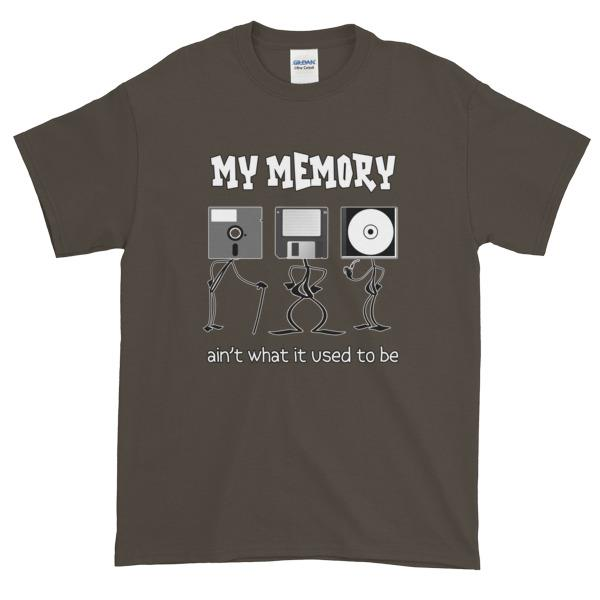 My Memory Ain't What it Used to Be Short-Sleeve T-Shirt-Olive-S-Awkward T-Shirts