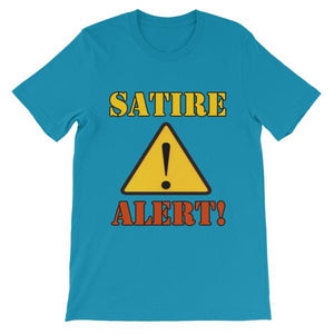 Satire Alert T-shirt-Aqua-S-Awkward T-Shirts
