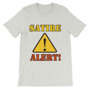Satire Alert T-shirt-Ash-S-Awkward T-Shirts