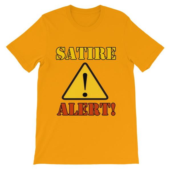 Satire Alert T-shirt-Gold-S-Awkward T-Shirts