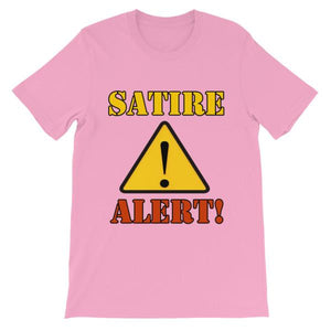 Satire Alert T-shirt-Pink-S-Awkward T-Shirts