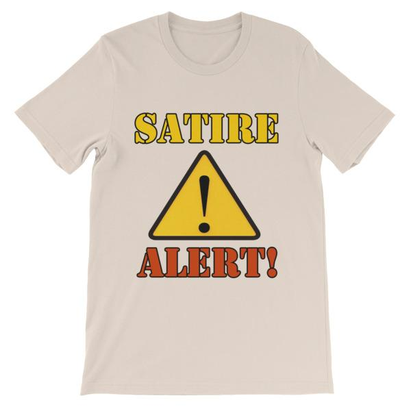 Satire Alert T-shirt-Soft Cream-S-Awkward T-Shirts