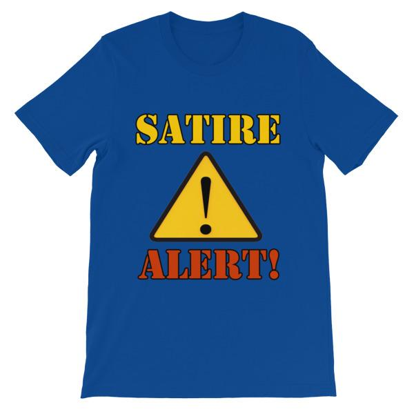 Satire Alert T-shirt-True Royal-S-Awkward T-Shirts