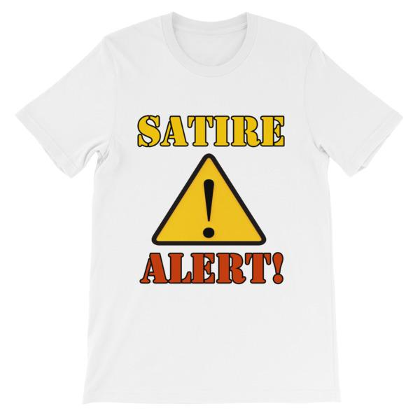 Satire Alert T-shirt-White-S-Awkward T-Shirts