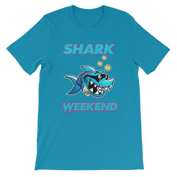 Shark Weekend T-Shirt-Aqua-S-Awkward T-Shirts