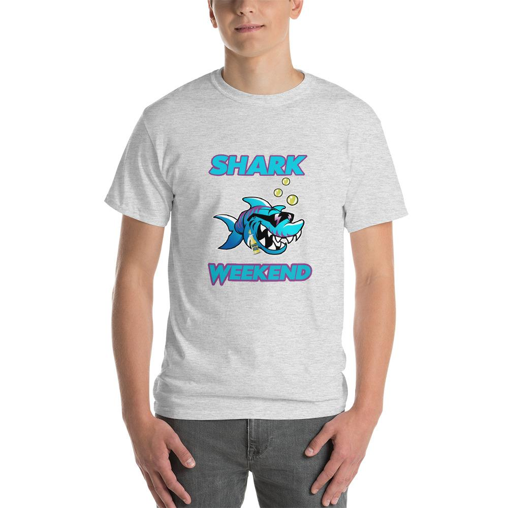 Shark Weekend T-Shirt-Ash-S-Awkward T-Shirts