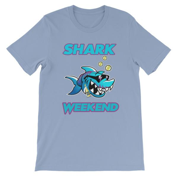 Shark Weekend T-Shirt-Baby Blue-S-Awkward T-Shirts