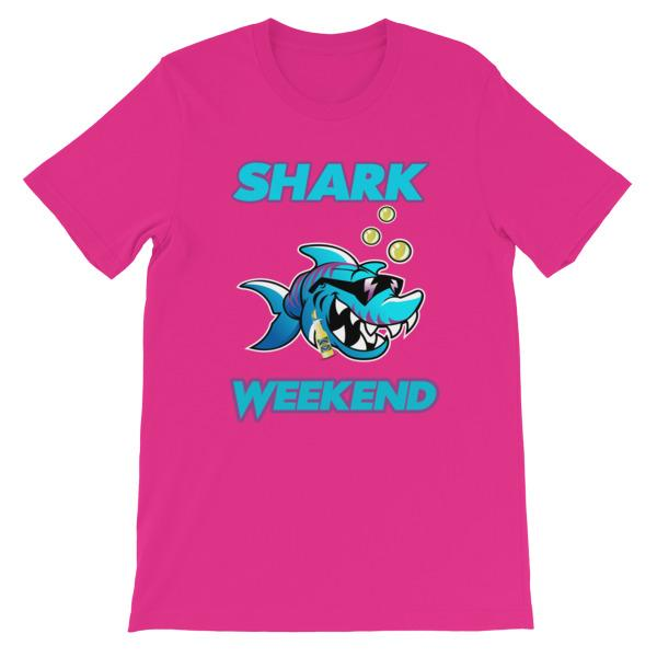 Shark Weekend T-Shirt-Berry-S-Awkward T-Shirts