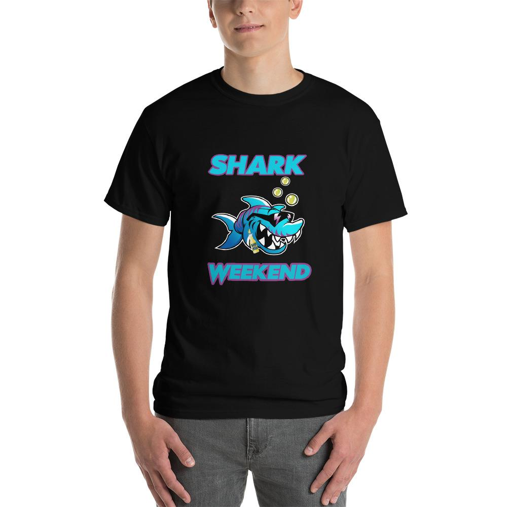 Shark Weekend T-Shirt-Black-S-Awkward T-Shirts