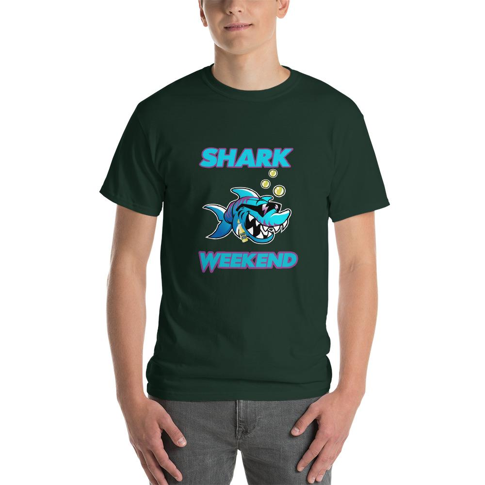 Shark Weekend T-Shirt-Forest-S-Awkward T-Shirts