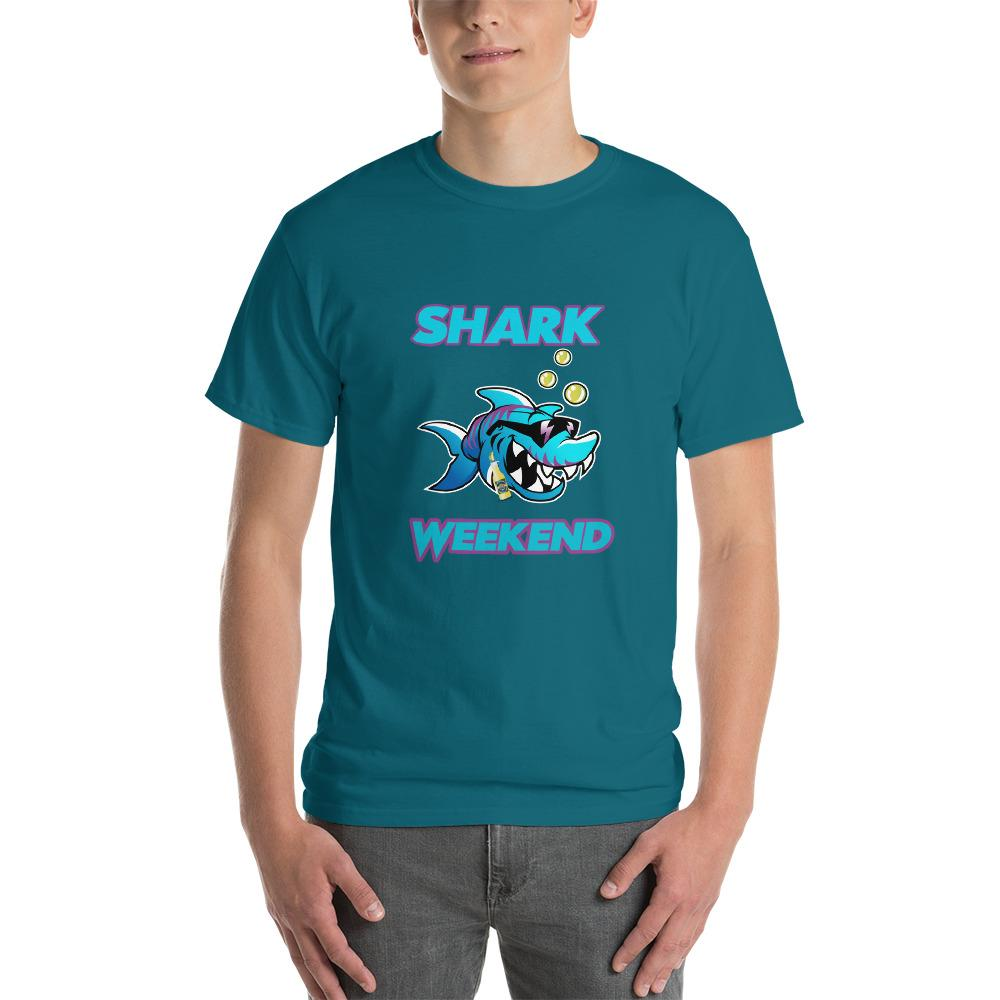 Shark Weekend T-Shirt-Galapagos Blue-S-Awkward T-Shirts