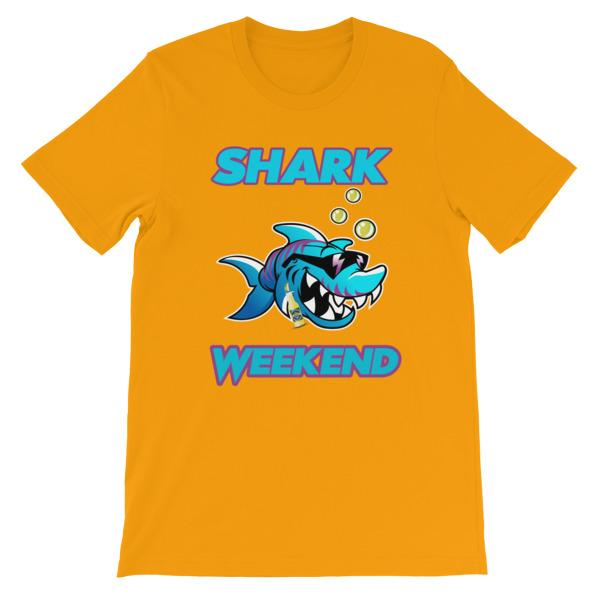 Shark Weekend T-Shirt-Gold-S-Awkward T-Shirts