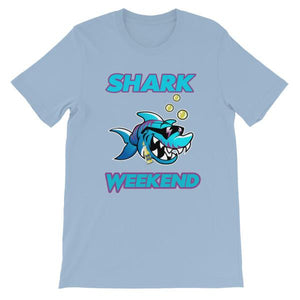 Shark Weekend T-Shirt-Light Blue-S-Awkward T-Shirts