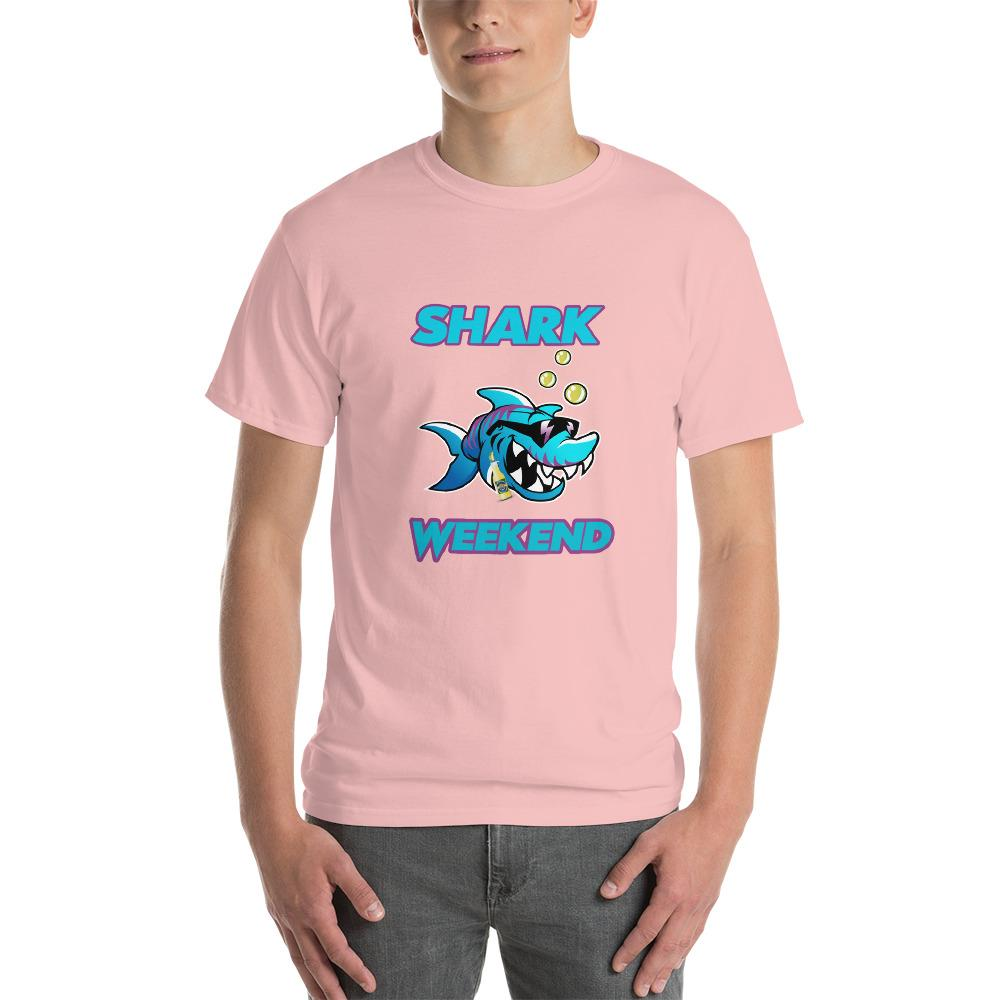 Shark Weekend T-Shirt-Light Pink-S-Awkward T-Shirts
