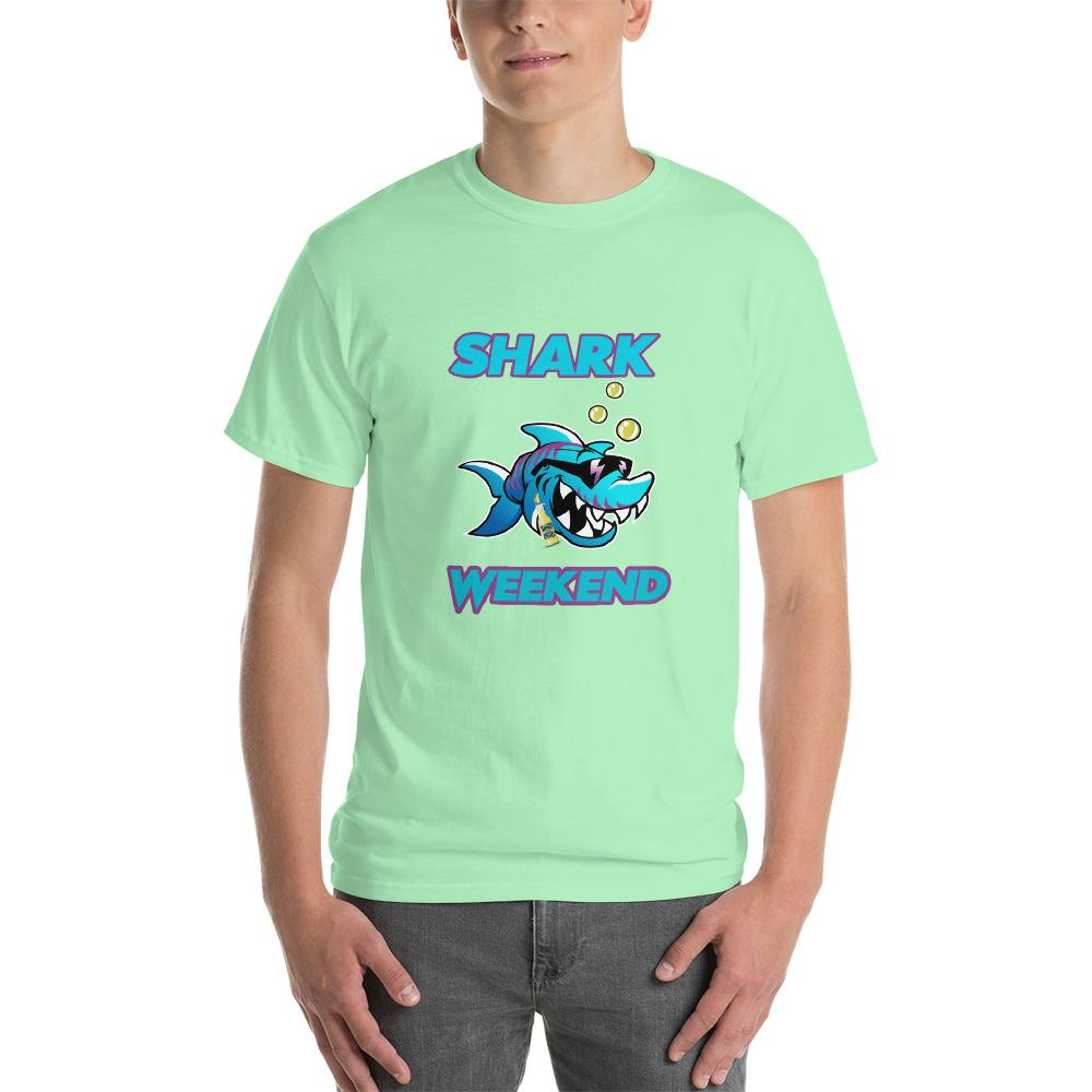 Shark Weekend T-Shirt-Mint Green-S-Awkward T-Shirts