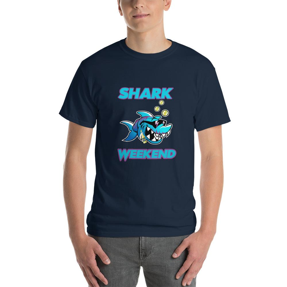 Shark Weekend T-Shirt-Navy-S-Awkward T-Shirts