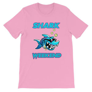 Shark Weekend T-Shirt-Pink-S-Awkward T-Shirts