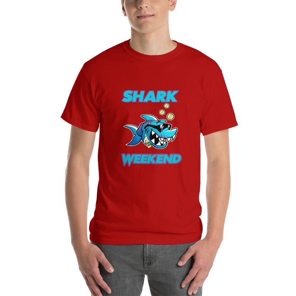 Shark Weekend T-Shirt-Red-S-Awkward T-Shirts