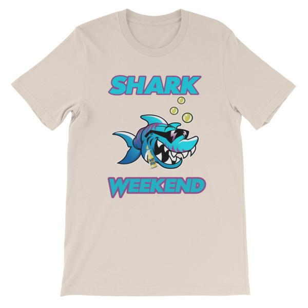 Shark Weekend T-Shirt-Soft Cream-S-Awkward T-Shirts