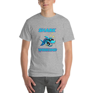 Shark Weekend T-Shirt-Sport Grey-S-Awkward T-Shirts