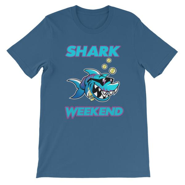 Shark Weekend T-Shirt-Steel Blue-S-Awkward T-Shirts