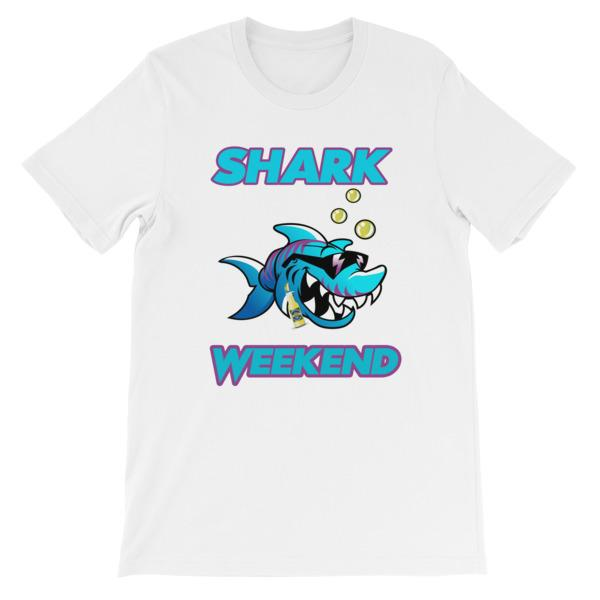 Shark Weekend T-Shirt-White-S-Awkward T-Shirts