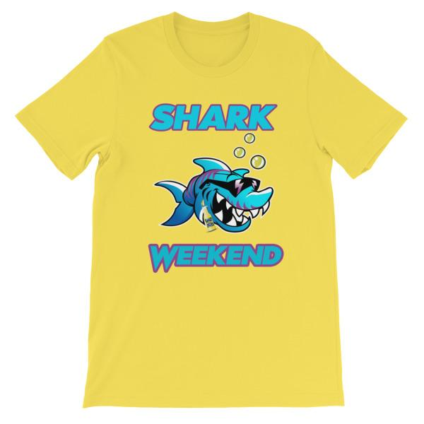 Shark Weekend T-Shirt-Yellow-S-Awkward T-Shirts