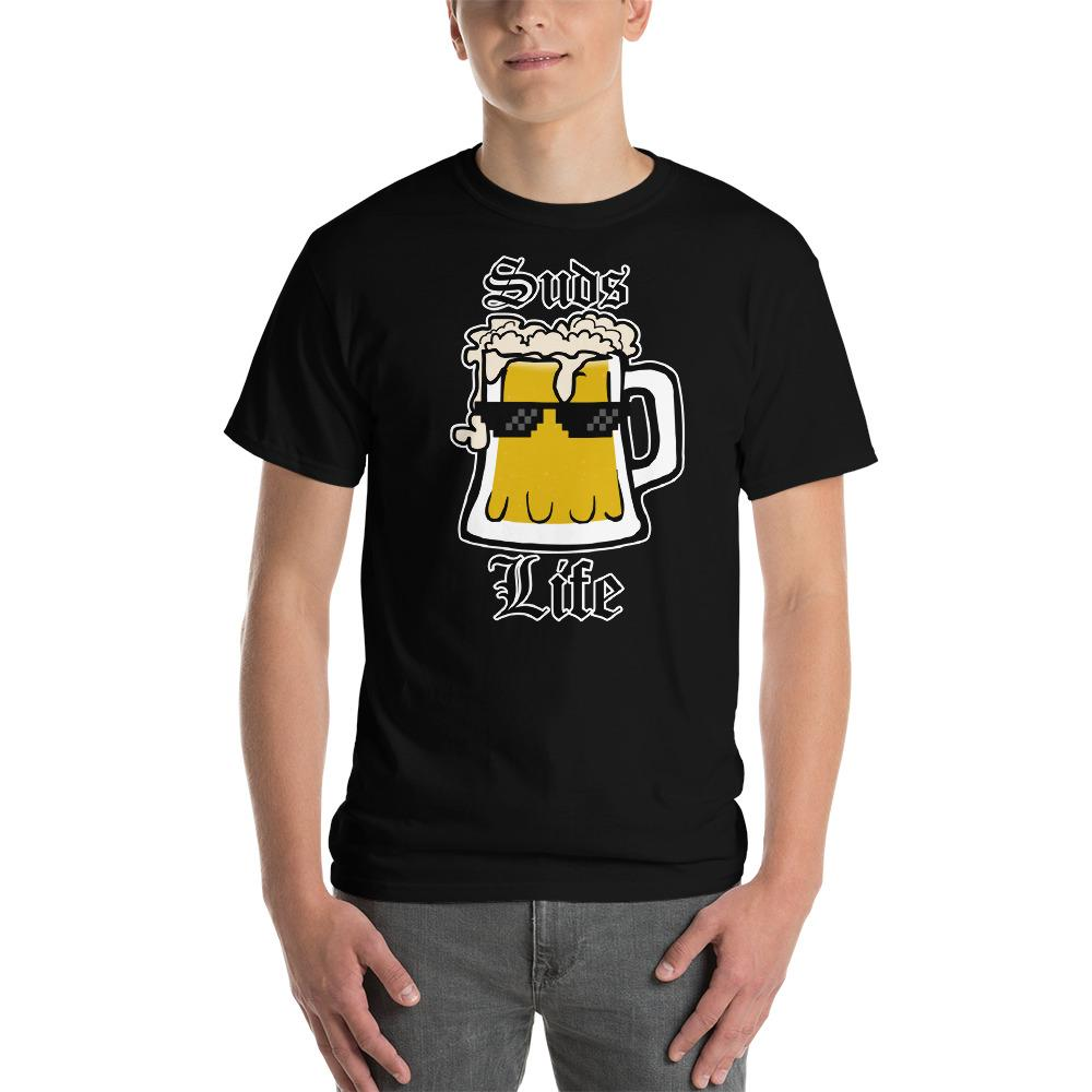 Suds Life Beer Lover T-Shirt-Black-S-Awkward T-Shirts