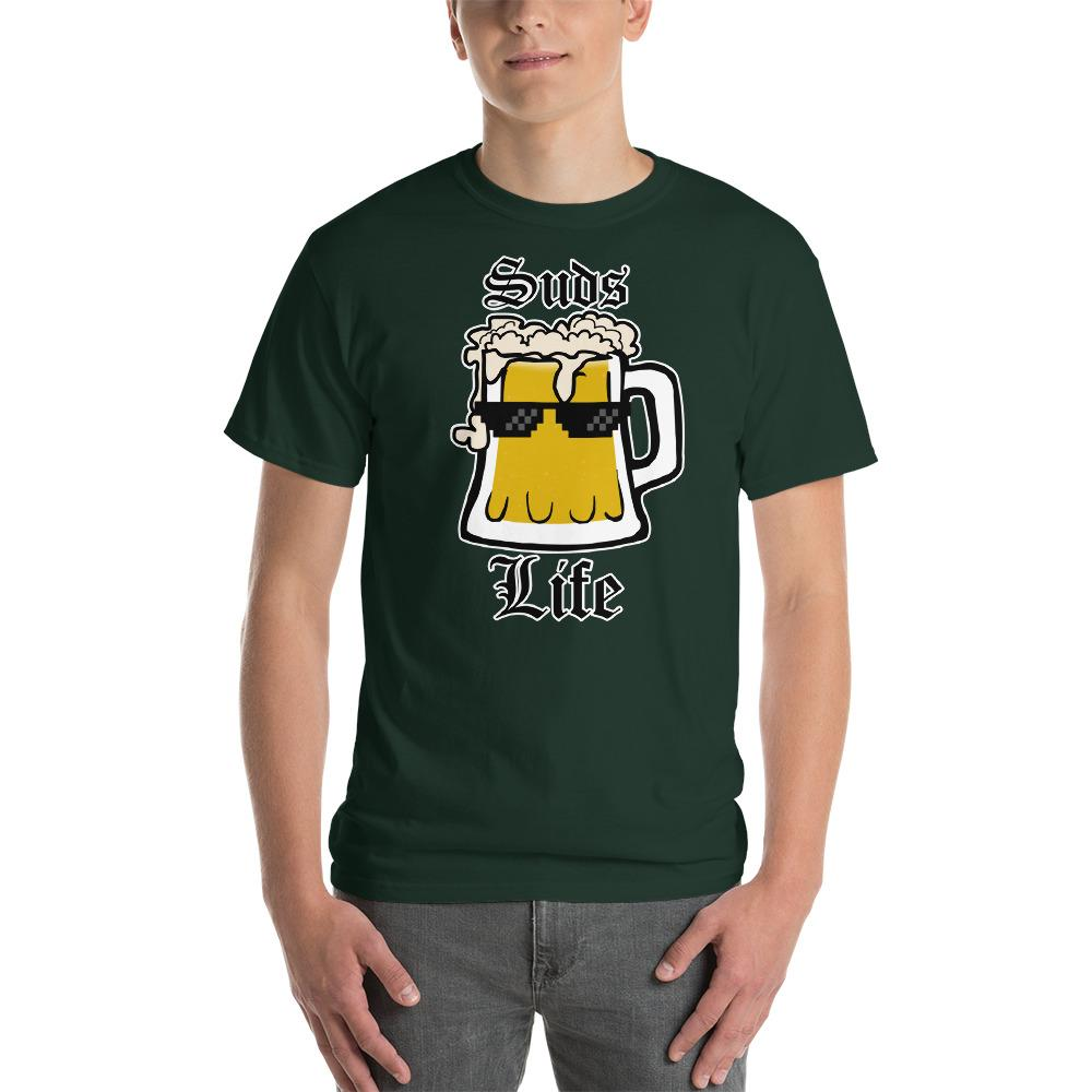 Suds Life Beer Lover T-Shirt-Forest-S-Awkward T-Shirts