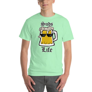 Suds Life Beer Lover T-Shirt-Mint Green-S-Awkward T-Shirts