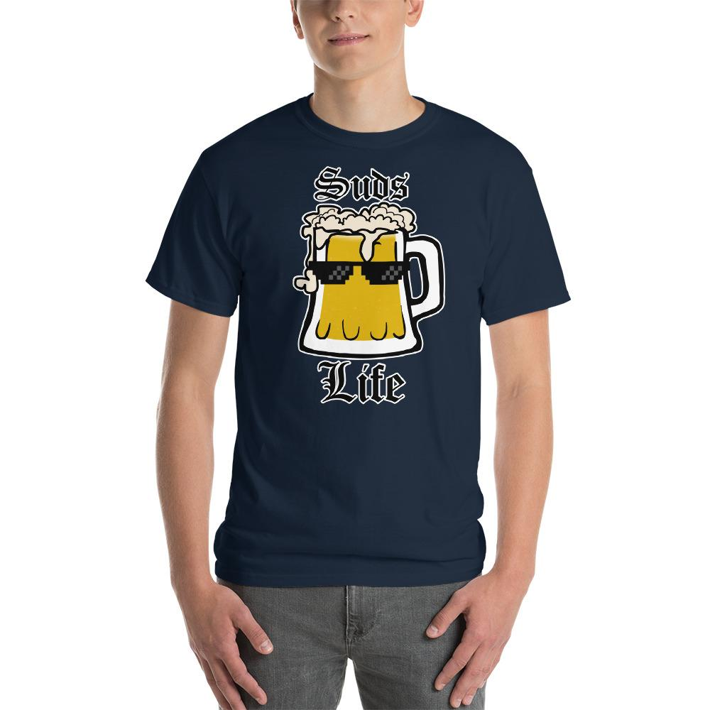 Suds Life Beer Lover T-Shirt-Navy-S-Awkward T-Shirts