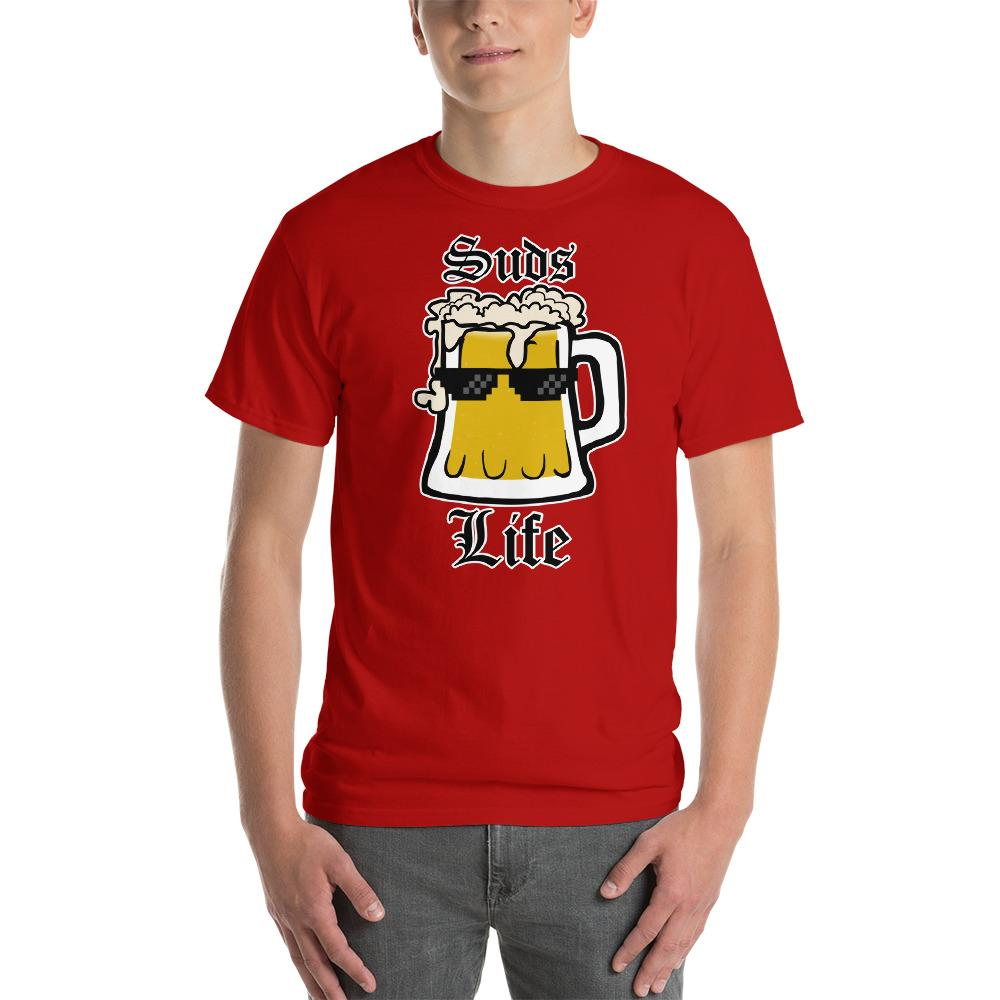 Suds Life Beer Lover T-Shirt-Red-S-Awkward T-Shirts