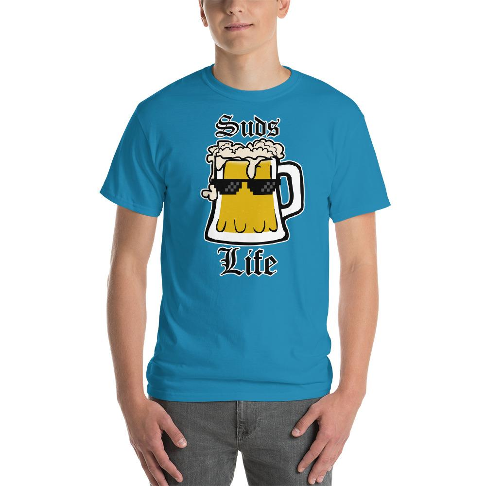 Suds Life Beer Lover T-Shirt-Sapphire-S-Awkward T-Shirts