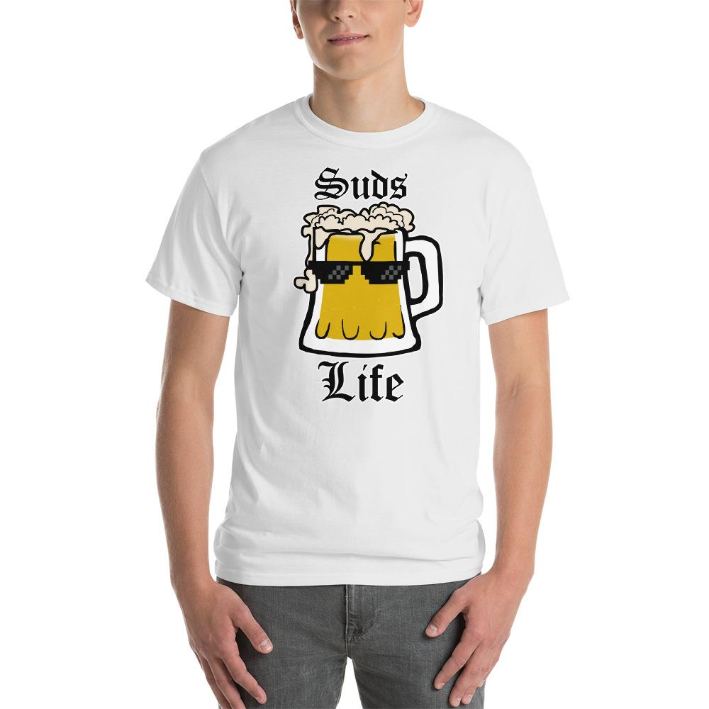 Suds Life Beer Lover T-Shirt-White-S-Awkward T-Shirts
